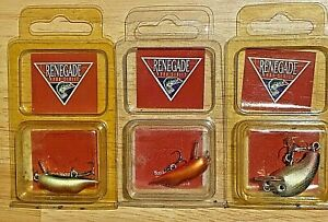 Lot of 3 Unopened Vintage Renegade Pro Series Little Bitty Craw & Shank Lures