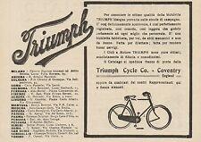 Z1345 Biciclette e Cicli a Motore TRIUMPH - Pubblicità d'epoca - 1909 Old advert