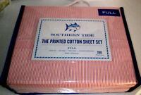 SOUTHERN TIDE Full Sheet Set 4P CABANA STRIPE orange yellow 100% cotton