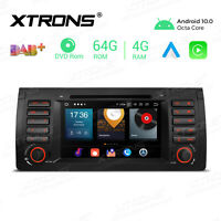 """Octa Core 4+64GB 7"""" Android 10 Car Stereo Radio DVD GPS Wifi 4G For BMW E53 X5"""
