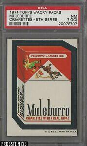 1974 Topps Wacky Packs 5th Series Muleburro Cigarettes PSA 7 NM (OC)