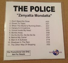 The Police - Zenyatta Mondatta 11 Trk UK Acetate Promo Cd Ultra Rare Sting 2003