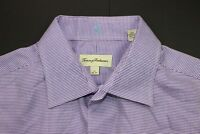Tommy Bahama Men's Casual Shirt Size M Purple Plaid/Check Long Sleeve Button Up