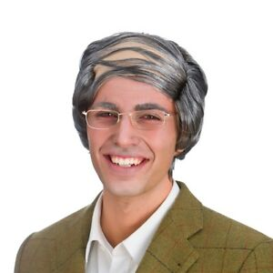 Old Man Comb Over Grey Wig Mens Comedy Fancy Dress Costume Accessory
