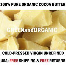 5Lbs Raw COCOA BUTTER Unrefined PURE PRIME PRESSED Natural Premium Cacao NON GMO