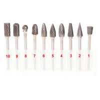 6mm Tungsten Steel Solid Carbide Burrs For Dremel Rotary Burrs Tool Drill Bit