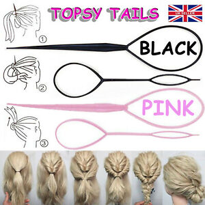 Hair Topsy Tail Magic Braid Ponytail Maker Clip Tool Styling UK Band Accessory
