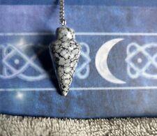 snowflake obsidian pendulum point crystal healing