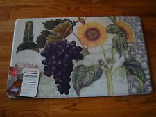 Anti Fatigue Memory PVC Foam Kitchen Mat Rug 18x30 WINE Sunflowers FRUIT Floral