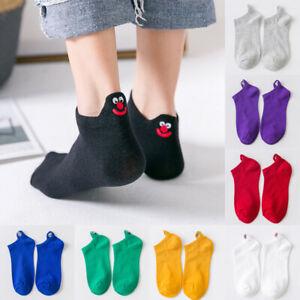 Women Men Cotton Ankle Socks Cute Funny Embroidery Comfort Casual Short Socks