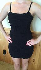 BAILEY 44 Women's Black Ruffle Tiered Salsa Mini Dress Size Extra Small NEW