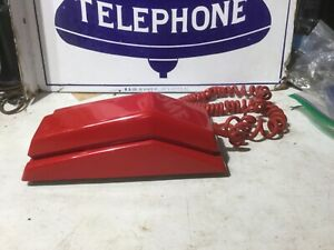 Northern Electric  Red Desk Telephone  Old Phone