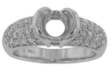 1.50 Ct. TW Prong Set Round Cut Diamond Half Bezel Engagement Semi Mounting 18kt