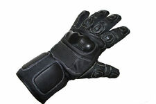 Guantes de cuero color principal negro talla M para motoristas