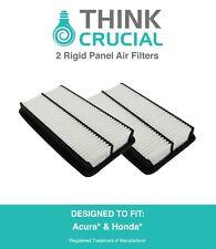 2 Replacement Acura / Honda Rigid Panel Air Filters Part # A25651 & CA10013