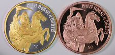 New listing 24K Silver and Copper Ounce Pale Horse of Death 1 oz Silver Round Gold Gilded