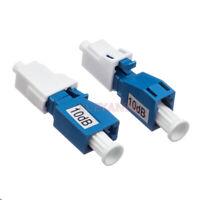 2pcs LC UPC Female to Male Fiber Optic Attenuator 1~30db FTTH Fiber Attenuator