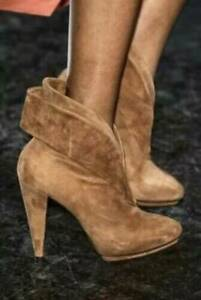 """SASS & BIDE """"Time Stopper"""" Hand Made Suede Runway Booties Boots - Sz 38 - $750"""