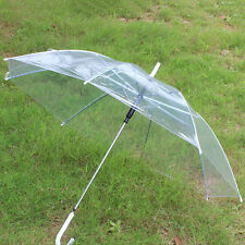 Transparent Rain Umbrella Clear Automatic PVC Parasol Outdoor Dome Long Umbrella