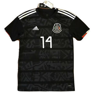 2019 Mexico Home Jersey #14 Chicharito Small Gold Cup Football Soccer NEW