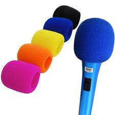 10x Copri Microfono Spugna Antivento Parapolvere Universale per Palco Karaoke