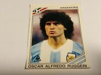 FIGURINA PANINI MEXICO 86 n°77 RUGGERI ARGENTINA rec WORLD CUP