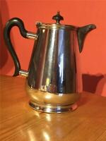 Antique Silver Plate EPNS Hot Water Jug Coffee Pot Carafe  1 1/2 Pint