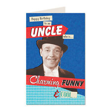 Happy Birthday To An Uncle Who Is Charming Funny & Cool.Happy Birthday Card