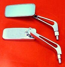 Paar Spiegel Chrom Motorradspiegel verchromt Lenkerspiegel Rückspiegel M10x1.25