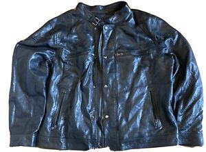 vintage banana republic leather jacket men