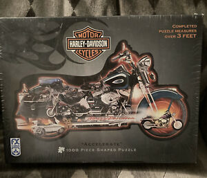 Harley Davidson Motorcycle Shaped Puzzle 3 Ft Long 1000 Pieces Sealed