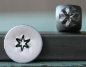 SUPPLY GUY 5mm Six Point Star Metal Punch Design Stamp SGCH-294