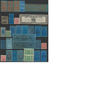US revenues, tobacco bands and stamps,see description