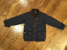 Polo Ralph Lauren Boys Kids Quilted Barn Jacket Navy Blue Coat Sz 5 Damaged