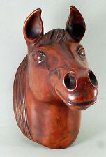 CERAMIQUE D'ART , signée ACHATIT,  tête de cheval, années 50, à accrocher