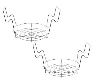 """CONCORD 12"""" Stainless Steel Canning Rack. Holds 8 Pint or 7 Quart Jars. 2 Pack"""