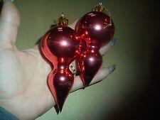 Vintage Bulb Christmas Ornament 2 Red