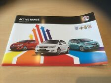 VAUXHALL ACTIVE RANGE 2012 MODELS, Sales Brochure, VM1109934, CORSA ASTRA MERIVA