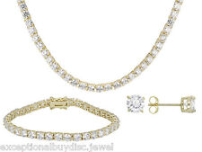 RGP LCS DIAMOND TENNIS NECKLACE + FREE  STUD EARRINGS (BRACELET SOLD SEPERATLY )