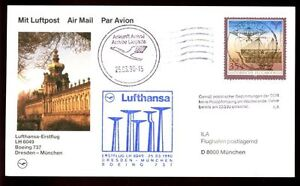 Germany 1990 First Flight Cover, FFC Dresden - Munchen #C4730