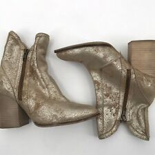 Seychelles gold distressed leather booties size 7 ankle boots