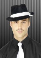 Adult Al Capone / 1920s Black Gangster Hat Fancy Dress Costume Party Accessory