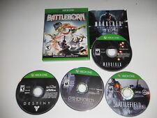 BATTLEBORN MURDERED DESTINY BATTLEFIELD 4 DISHONORED XBOX ONE 5 GAME LOT