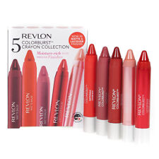Revlon Colorburst Lip Crayon Gift Set with Red Pink Nude Plum Balm Stain Makeup