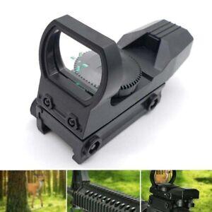 Holographic Green Dot Sight 20mm Rail Riflescope Hunting Optics Reflex 4 Reticle