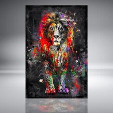 ACRYLGLAS WANDBILD LÖWE LION ABSTRAKT KUNSTDRUCK BILDER NATUR DEKO GLASBILD