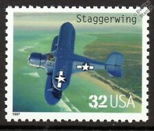 USAAF Beechcraft modèle 17 STAGGERWING utilitaire avions cachet (1997 USA)