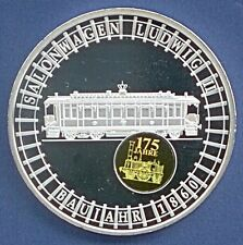 Medaille 175 J. Eisenbahn Salonwagen Ludwig II Hologramm #00294 Ø 50 mm B88/12