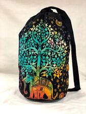 Indian Elephant Backpack Bag Boho Unisex Bag Hippie Casual Bag Cotton Gym Bag