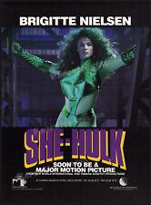 SHE-HULK__Original 1991 Trade Print AD / film promo / poster__BRIGITTE NIELSEN